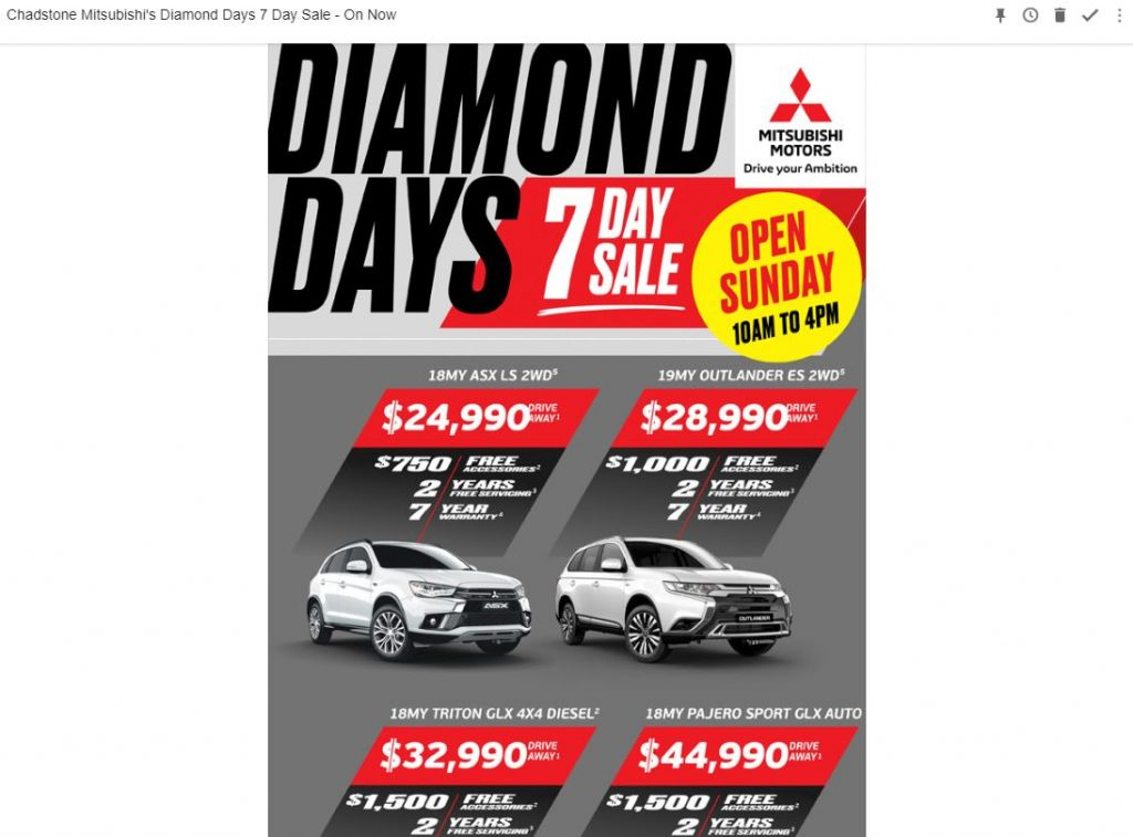 Mitsubishi-Dealer-Email-Sales-Offer