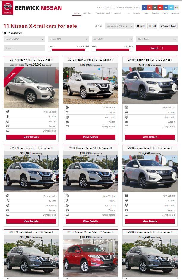 Nissan-X-Trail-Dealer-Website